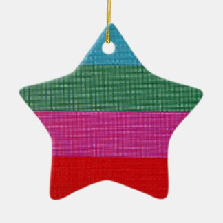 Color bars ceramic star decoration