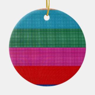 Color bars round ceramic decoration