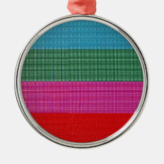 Color bars Silver-Colored round decoration