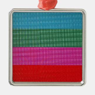 Color bars Silver-Colored square decoration