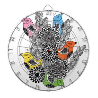color birds dartboard