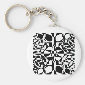 color blind inverse basic round button key ring