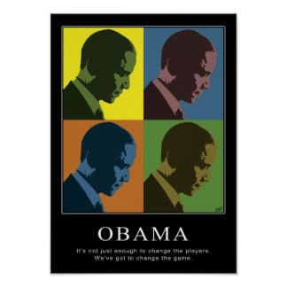 """Color Blind"" Obama Poster"