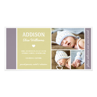 COLOR BLOCK | BABY BIRTH ANNOUNCEMENT CARD