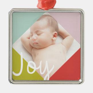 Color Block Joy Christmas Ornament