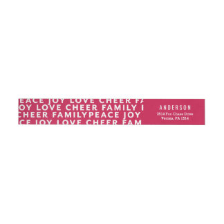 Color Block Typography Christmas Address Label
