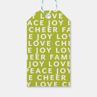 Color Block Typography Christmas Gift Tag Wrap
