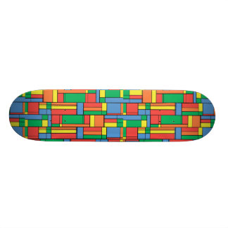 Color blocks 20.6 cm skateboard deck