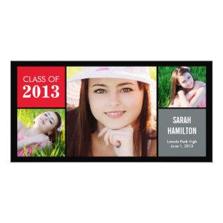 Color Blocks Graduation Announcement Photo Card Photo Greeting Card