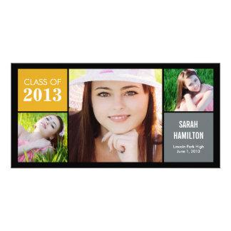 Color Blocks Graduation Announcement Photo Card Photo Cards