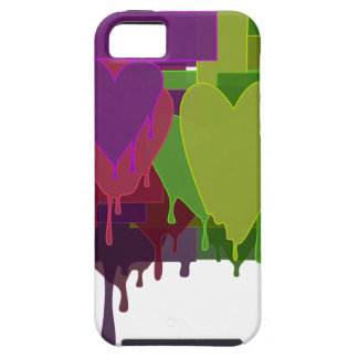 Color Blocks Melting Hearts iPhone 5 Case