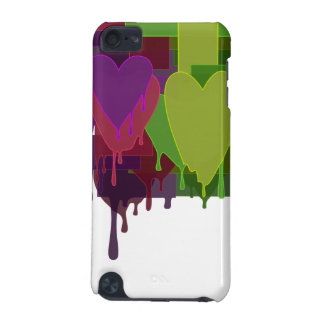 Color Blocks Melting Hearts iPod Touch 5G Covers
