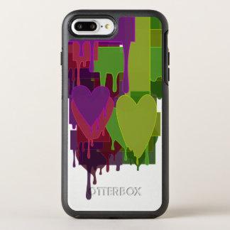 Color Blocks Melting Hearts OtterBox Symmetry iPhone 7 Plus Case