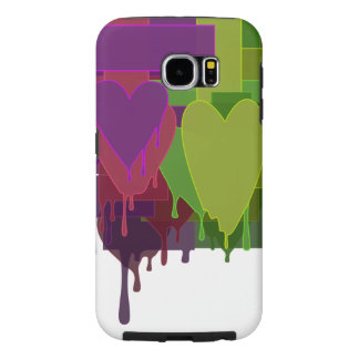 Color Blocks Melting Hearts Samsung Galaxy S6 Cases