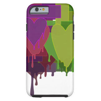 Color Blocks Melting Hearts Tough iPhone 6 Case