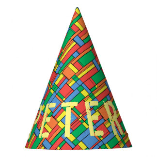 Color blocks party hat