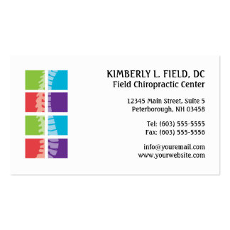 Color Blocks Spine Chiropractic Appointment Cards Pack Of Standard Business Cards