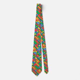 Color blocks tie