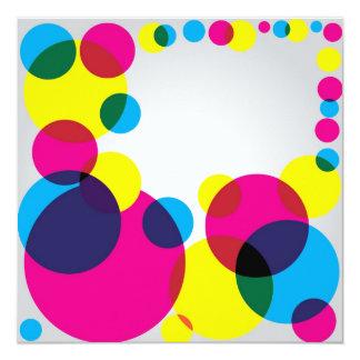 Color Bubbles 13 Cm X 13 Cm Square Invitation Card