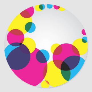 Color Bubbles Classic Round Sticker