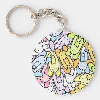 color bunnies key ring