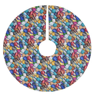 Color Button Collection Brushed Polyester Tree Skirt