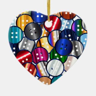 Color Button Collection Christmas Ornament