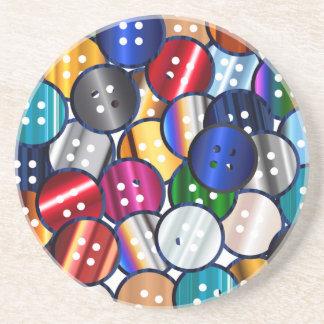 Color Button Collection Coaster