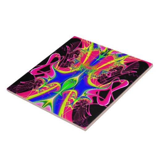 Color Cacophony  Fractal Ceramic Tiles