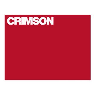 Color Card crimson Postcards