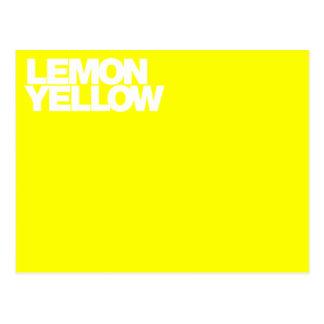 Color Card lemon yellow Postcard
