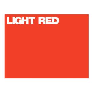 Color Card light red Postcard