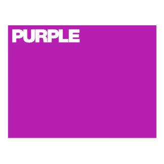 Color Card purple Postcard