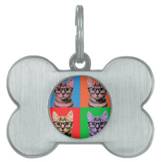 Color Cat Pet ID Tag