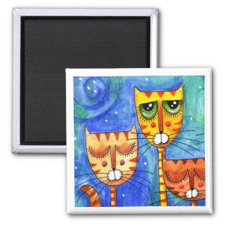 Color Cats - Magnet