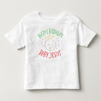 Color Chalk Happy Birthday Baby Jesus Religious Toddler T-Shirt