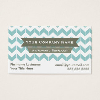 Color Changeable Modern Chevron Business Cards