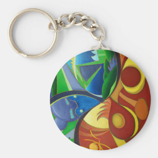 Color Chaos Basic Round Button Key Ring