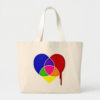 color chart heart jumbo tote bag