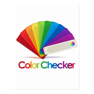 Color Checker Postcard