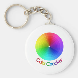Color Checker Spectrum Basic Round Button Key Ring
