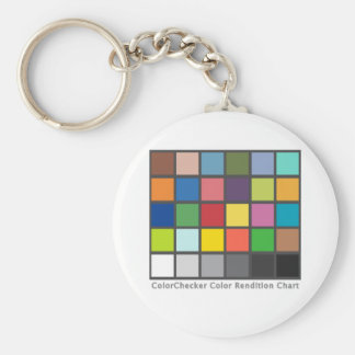 Color Checker Table Basic Round Button Key Ring