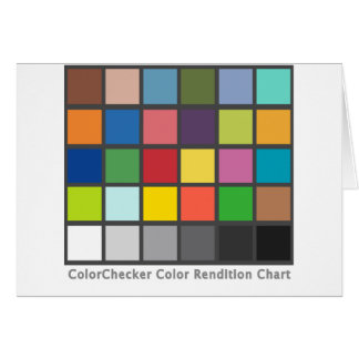 Color Checker Table Greeting Card