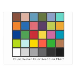 Color Checker Table Postcard