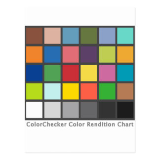 Color Checker Table Post Card