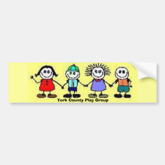 Color Children, York County Play Group Bumper Sticker