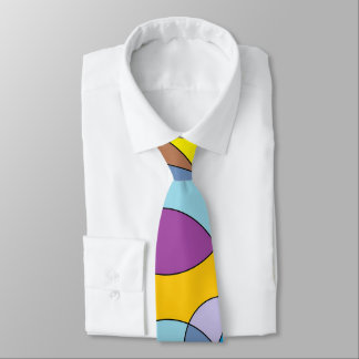 Color Circles and Ovals Tie