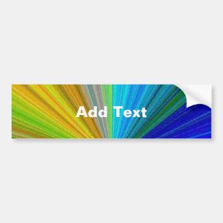 Color Circular Rainbow Array 1 Bumper Sticker