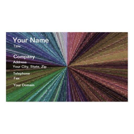 Color Circular Rainbow Array 2 Business Card Template