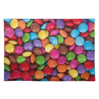 Color Coated Candy Place Mats